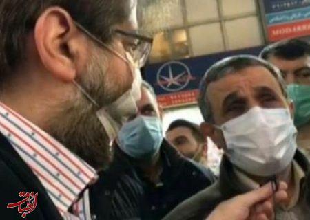 احمدی نژاد: اظهارات آقای حداد عادل سخن دشمن بود /قبل از انقلاب دست فرح پهلوی را می بوسیدند بعد انقلاب سوپر حزب اللهی شدند