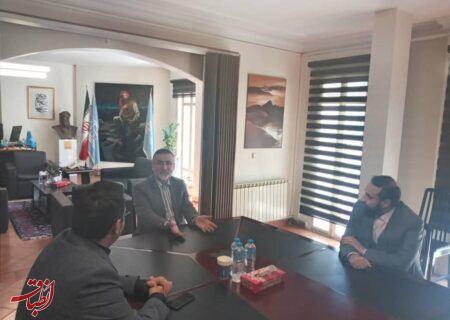 دیدار شهردار بندر کیاشهر با دبیرکل کمیسیون ملی یونسکو در ایران